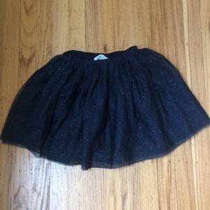 Dark Glitter Blue Tutu Skirt